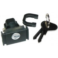 Glove box lock with keys