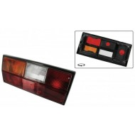 Tail light lens European amber/red/clear left