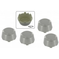 Center cap silver 4 pcs