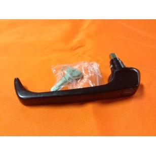 Sliding door handle with keys